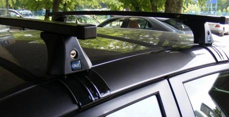 Купить Рейлинги на крышу Citroen Nemo 2007- алюминиевые Crown. Фото