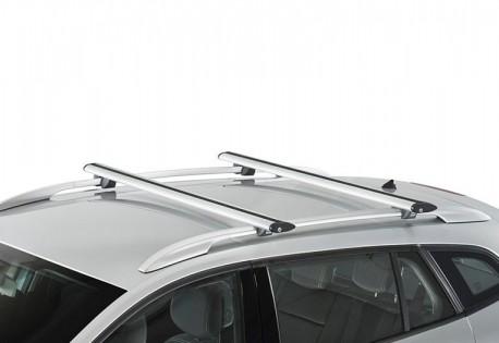 Купить Рейлинги Fiat Doblo 2001-2010 с металлическими наконечниками. Фото