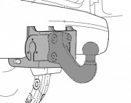 Фаркоп Toyota Land Cruiser J150 Westfalia торцевий гак