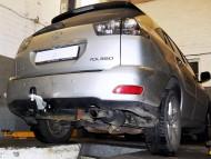Фаркоп Lexus RX 2003-2009 Полигон-авто квадрат вставка