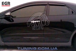 Ветровики Honda Civic хэтчбек 06-11 EGR черный 4 шт.