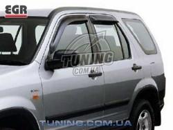 Ветровики Honda CR-V 02-06 EGR черный 4 шт.