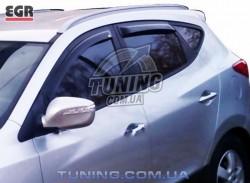 Ветровики Hyundai IX35 10- EGR черный 4 шт.
