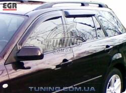 Ветровики Mazda 6 универсал 02-07 EGR черный 4 шт.