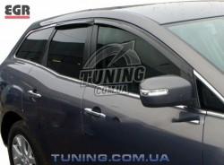 Ветровики Mazda CX7 06-12 EGR черный 4 шт.
