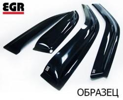 Ветровики Nissan Qashqai 14- EGR черный 4 шт.