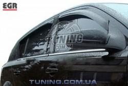 Ветровики Opel Astra H 04-14 EGR черный 4 шт.
