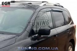 Ветровики Subaru Forester 13- EGR черный 4 шт.