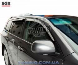 Ветровики Toyota Highlander 10-14 EGR черный 4 шт.