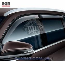Ветровики Toyota Highlander 14- EGR черный 4 шт.