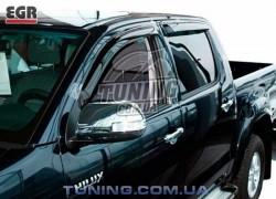 Ветровики Toyota Hilux 2005-2015 EGR черный 4 шт.