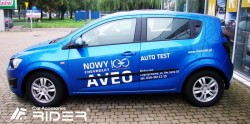 Молдинги дверей Chevrolet Aveo 2012- седан, хэтчбек Rider