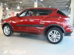 Молдинги дверей Nissan Juke 2010- Rider
