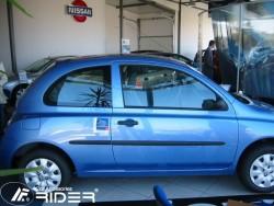 Молдинги дверей Nissan Micra 2002-2011 3 двери Rider