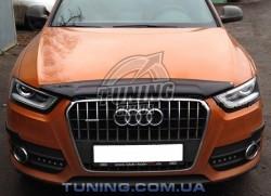 Дефлектор капота на Audi Q3 2011- EGR темный