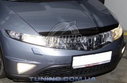 Дефлектор капота на Honda Civic 2006-2011 хэтчбек EGR темный
