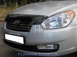 Дефлектор капота на Hyundai Accent 2006-2010 EGR темный