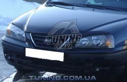 Дефлектор капота на Hyundai Elantra 2003-2006 с лого EGR темный