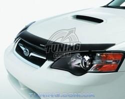 Дефлектор капота на Subaru Legacy 2004-2009 с лого EGR темный