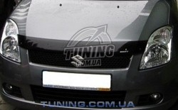 Дефлектор капота на Suzuki Swift 2005-2011 с лого EGR дымчатый