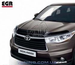 Дефлектор капота на Toyota Highlander 2014- EGR Темний