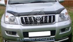 Дефлектор капота на Toyota LC120 Prado 02-09 EGR Темний