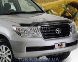 Дефлектор капота на Toyota Land Cruiser 200 2007- EGR Темний