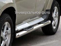 Пороги труби з накладками Lifan X60 2012-