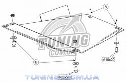 Защита коробки МКПП Audi A4 1994-2001 Кольчуга