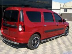 Пороги боковые труба Dacia Logan универсал 2007-