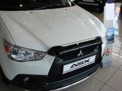 Дефлектор капота короткий Mitsubishi ASX 2010-2012 SIM