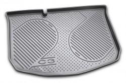 Коврик в багажник Citroen C3 01-09 хэтчбек, полиуретановый черный Novline