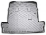 Коврик в багажник Lexus LX 07-12, 12- 7 мест длинный черный Element