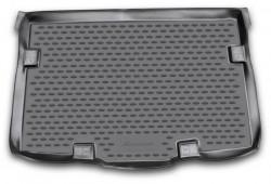 Коврик в багажник Suzuki SX4 10-13 хэтчбек, нижний полиуретановый черный Novline