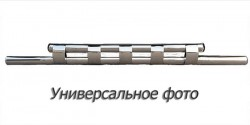 Передний ус двойная труба с грилем на Lexus GX 2003-2009