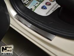 Матовые накладки на пороги Lancia Ypsilon  2011- Premium