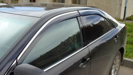 Фото Ветровики с хром молдингом Toyota Camry V50 2011-2014, 2014- AVTM