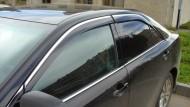 Ветровики с хром молдингом Toyota Camry V50 2011-2014, 2014- AVTM
