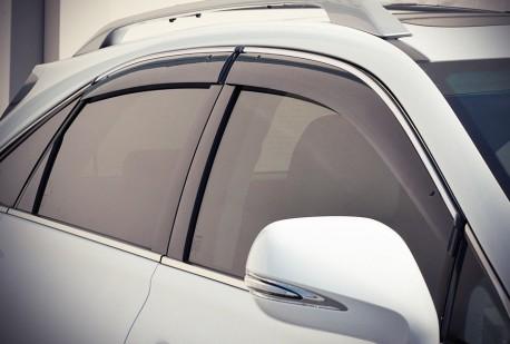 Фото Ветровики с хром молдингом Lexus RX 2009-2015 AVTM