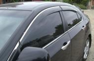 Ветровики с хром молдингом Honda Accord 2008-2012 седан AVTM