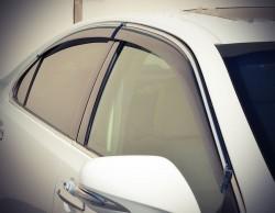Ветровики с хром молдингом Lexus ES 2006-2011 AVTM