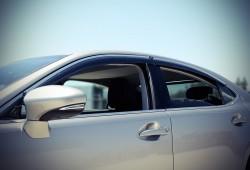 Ветровики с хром молдингом Lexus ES 2012- AVTM