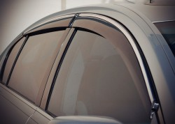 Ветровики с хром молдингом Lexus GS 2005-2012 AVTM