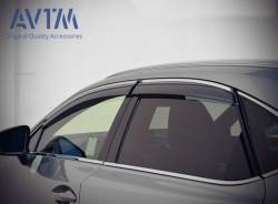 Ветровики с хром молдингом Lexus NX 2014- AVTM