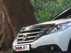 Дефлектор капота на Honda CR-V 2012-2015 EGR темный