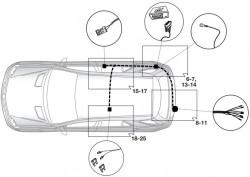 Штатный электрокомплект фаркопа Mercedes GL X166 2012-2016 Hak-System
