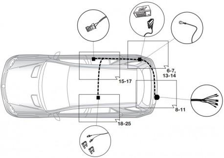 Фото Штатный электрокомплект фаркопа Mercedes GLS X166 2016- Hak-System