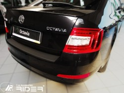 Накладка на задний бампер Skoda Octavia A7 лифтбек 2013- Rider