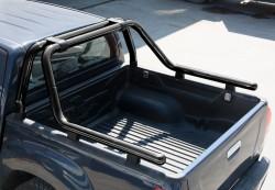 Черная дуга для пикапа Toyota Hilux 2005-2015 60 мм OmsaLine