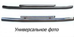 Передний ус двойная труба на Mitsubishi L200 2016-
